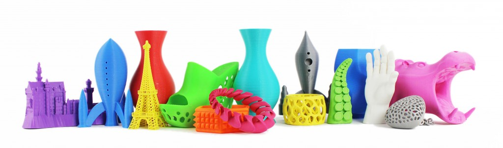 Colorful 3D Prints