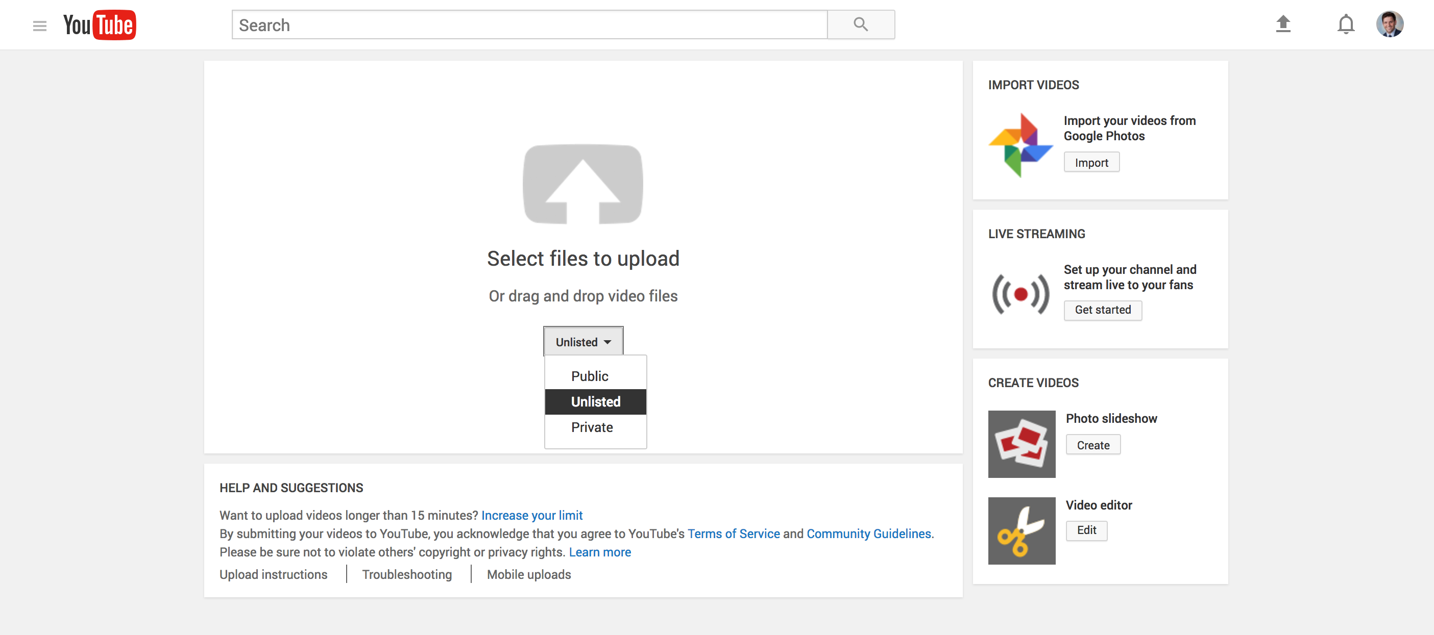 how to find unlisted youtube videos with google