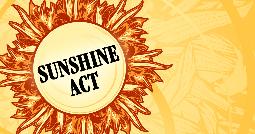 Sunshine Act