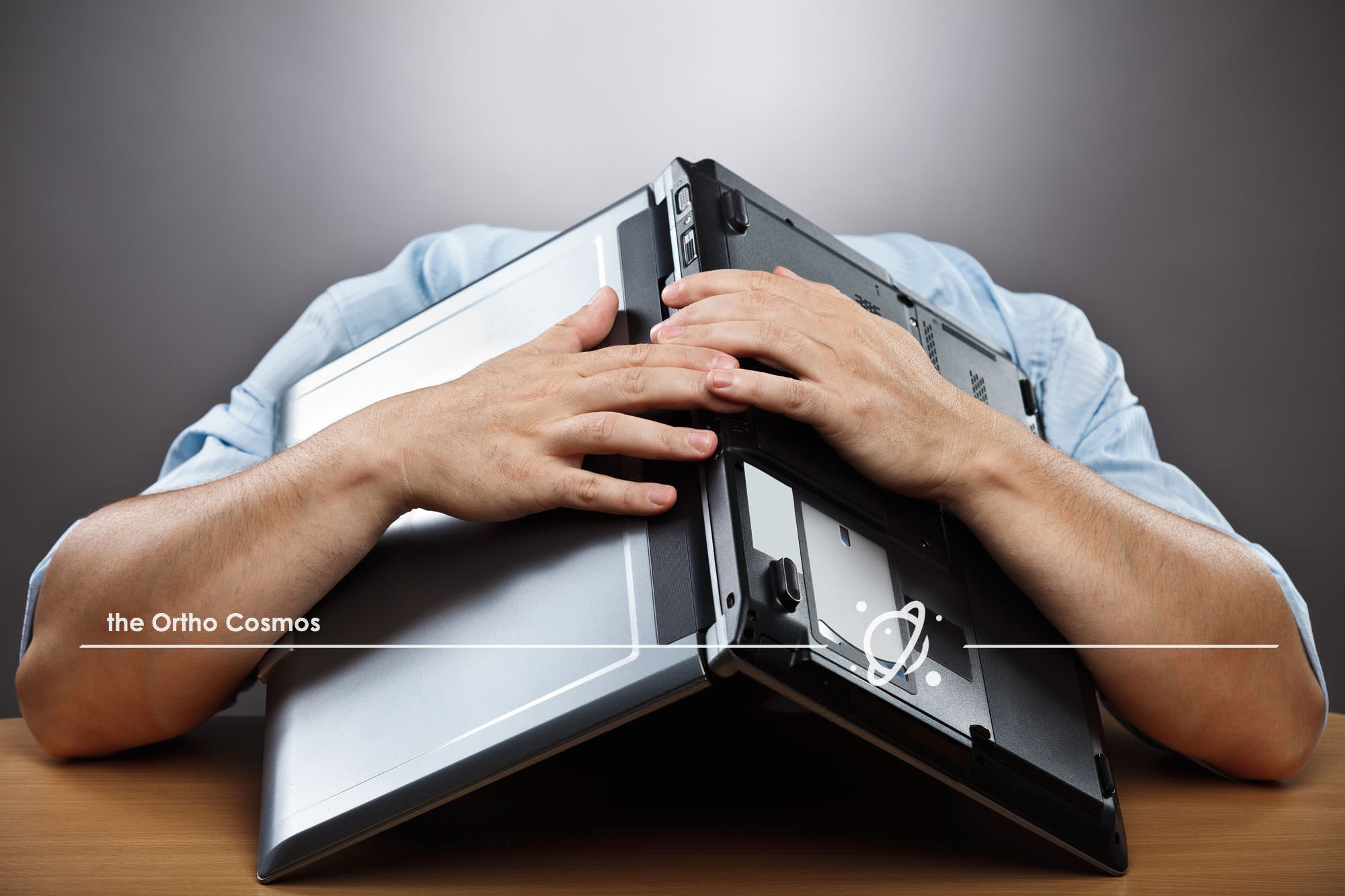 Stressed Computer User